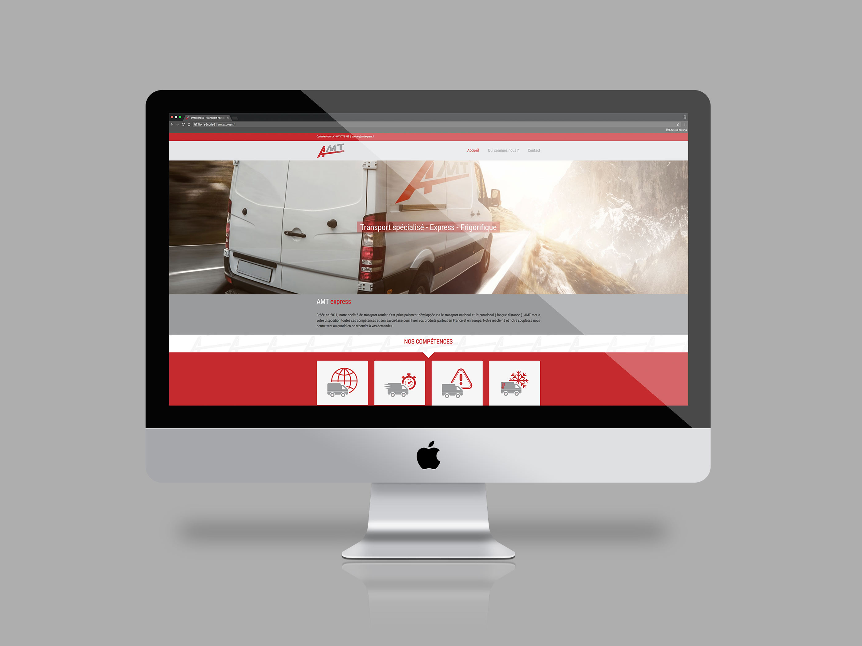 Conception site responsive design pour AMT express