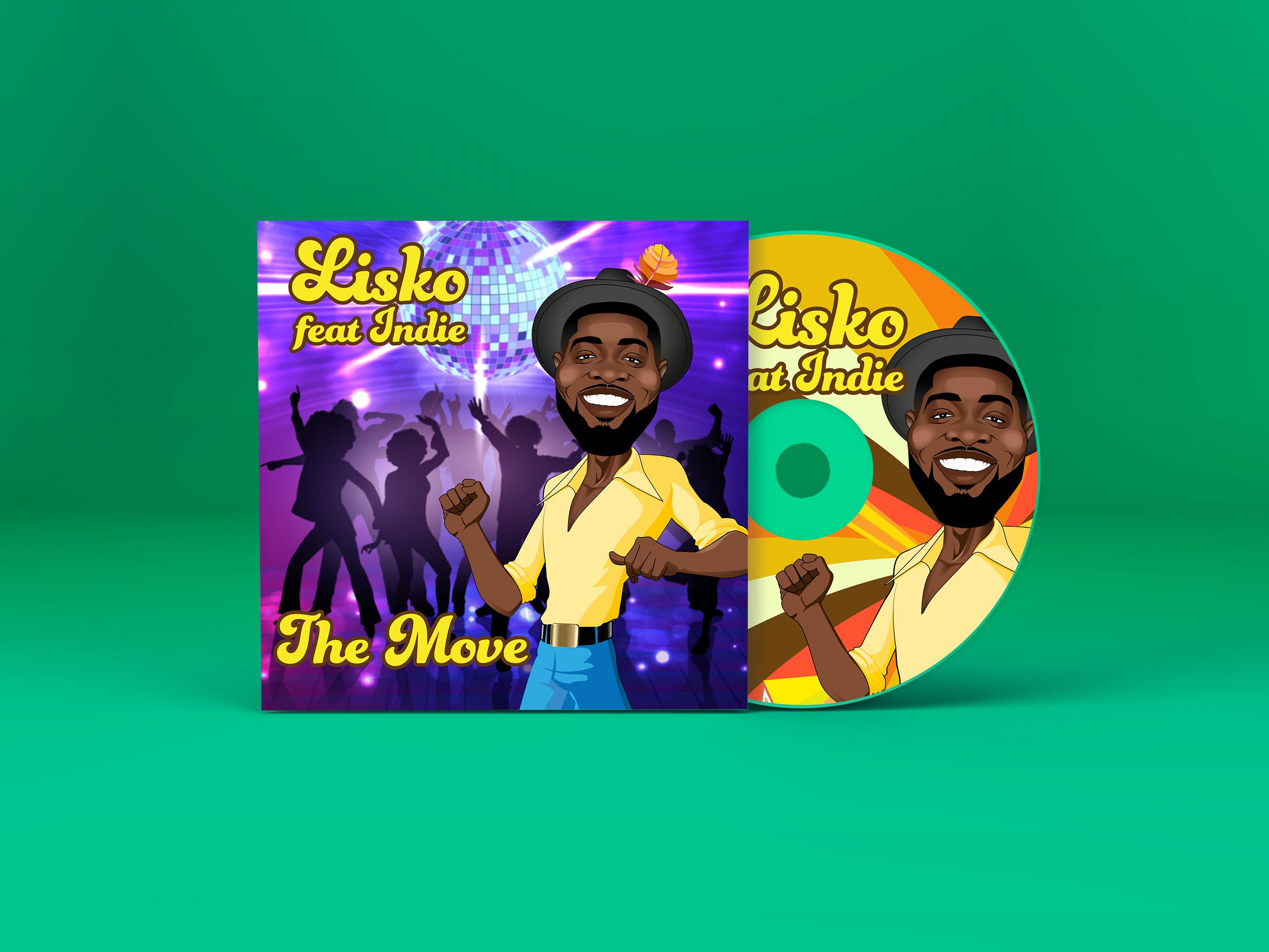 """image de la cover pour le single """"the move"""" du chanteur lisko à voir sur lisko.fr"""