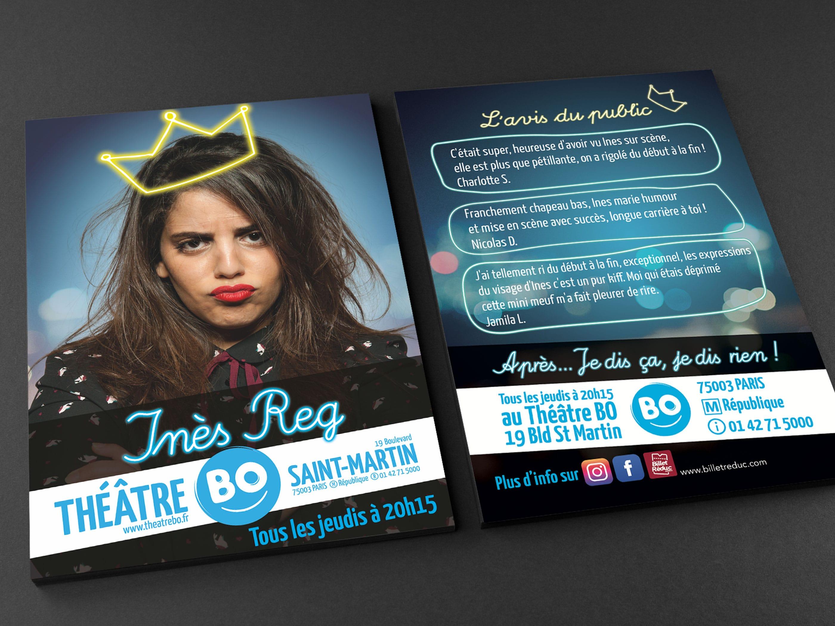 image du flyer du spectacle d'Inès Reg du jamel comedy club