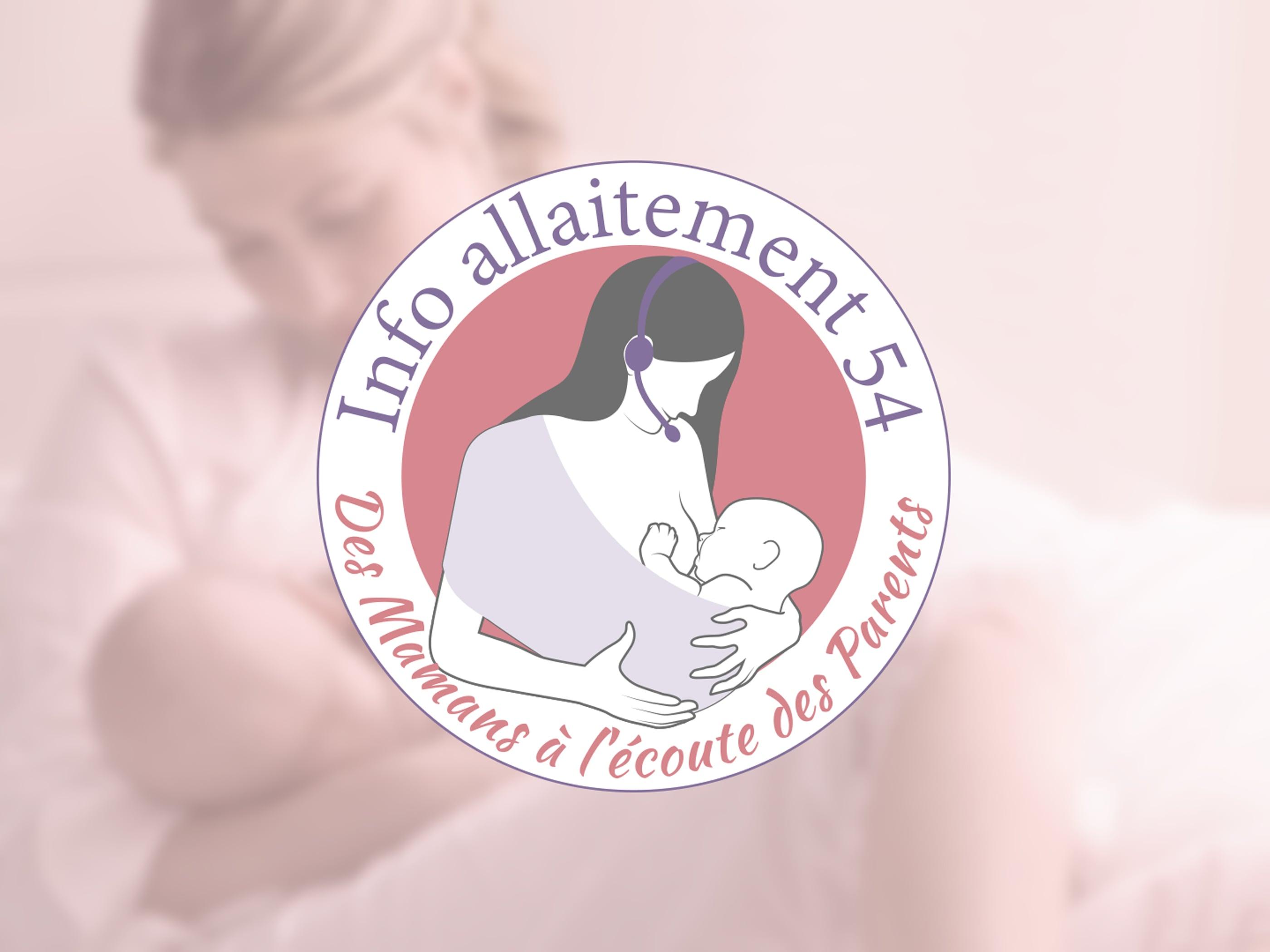 ismage du logo réalisé pour info allaitement 54