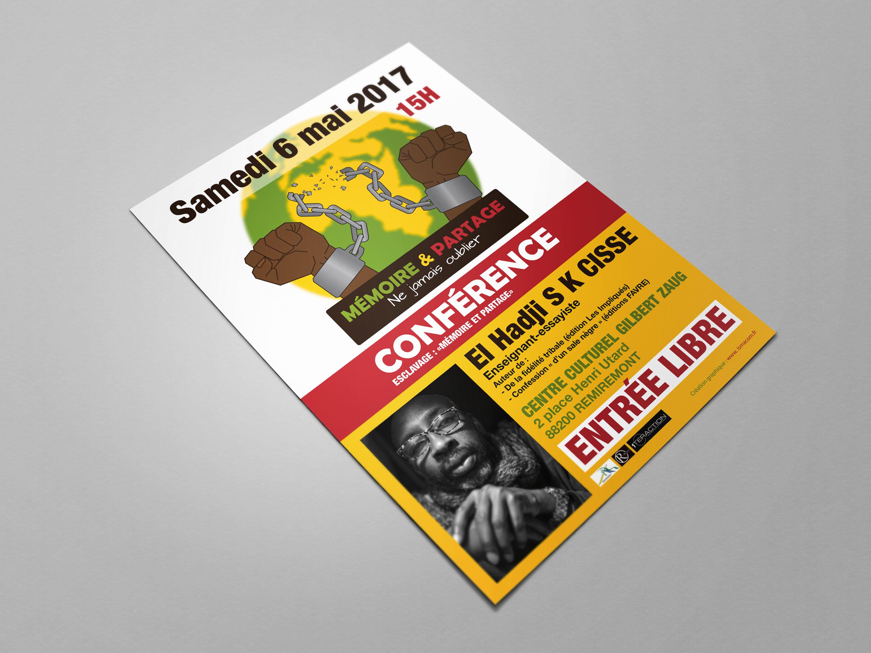 image du flyer pour une conférence autour de la commemoration de l'abolition de l'esclavage