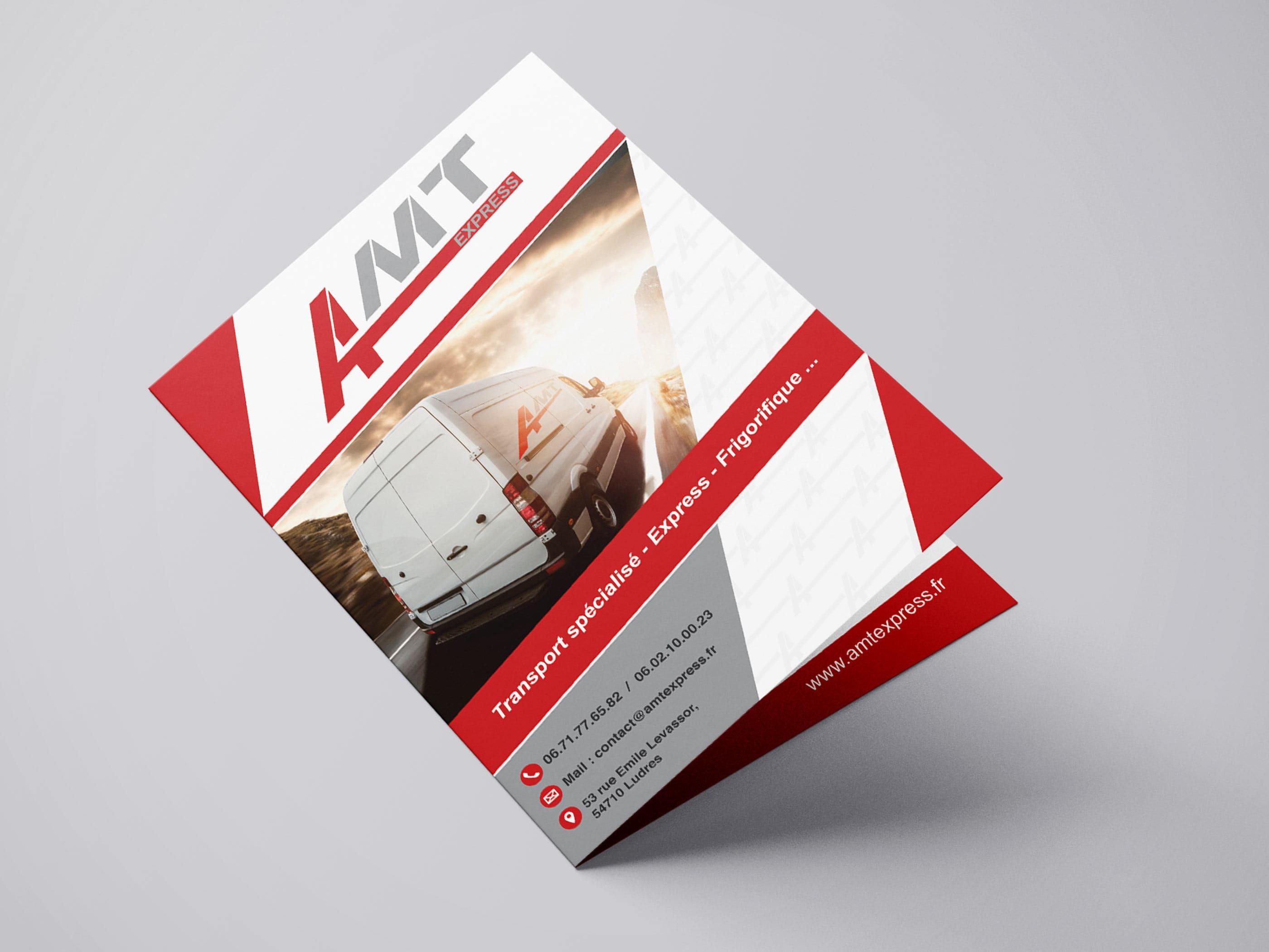 plaquette commerciale bifold A4 pour société de transport