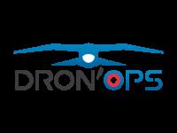 logo représentant un hybride de drone et d'oiseau de couleur bleu représentant une activité de prises de vue par drone