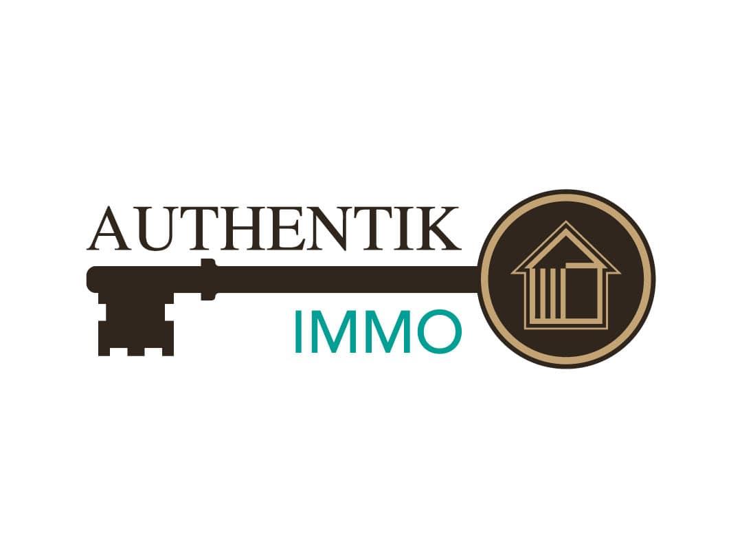 logo d'agence immobilière représentant une clé de maison
