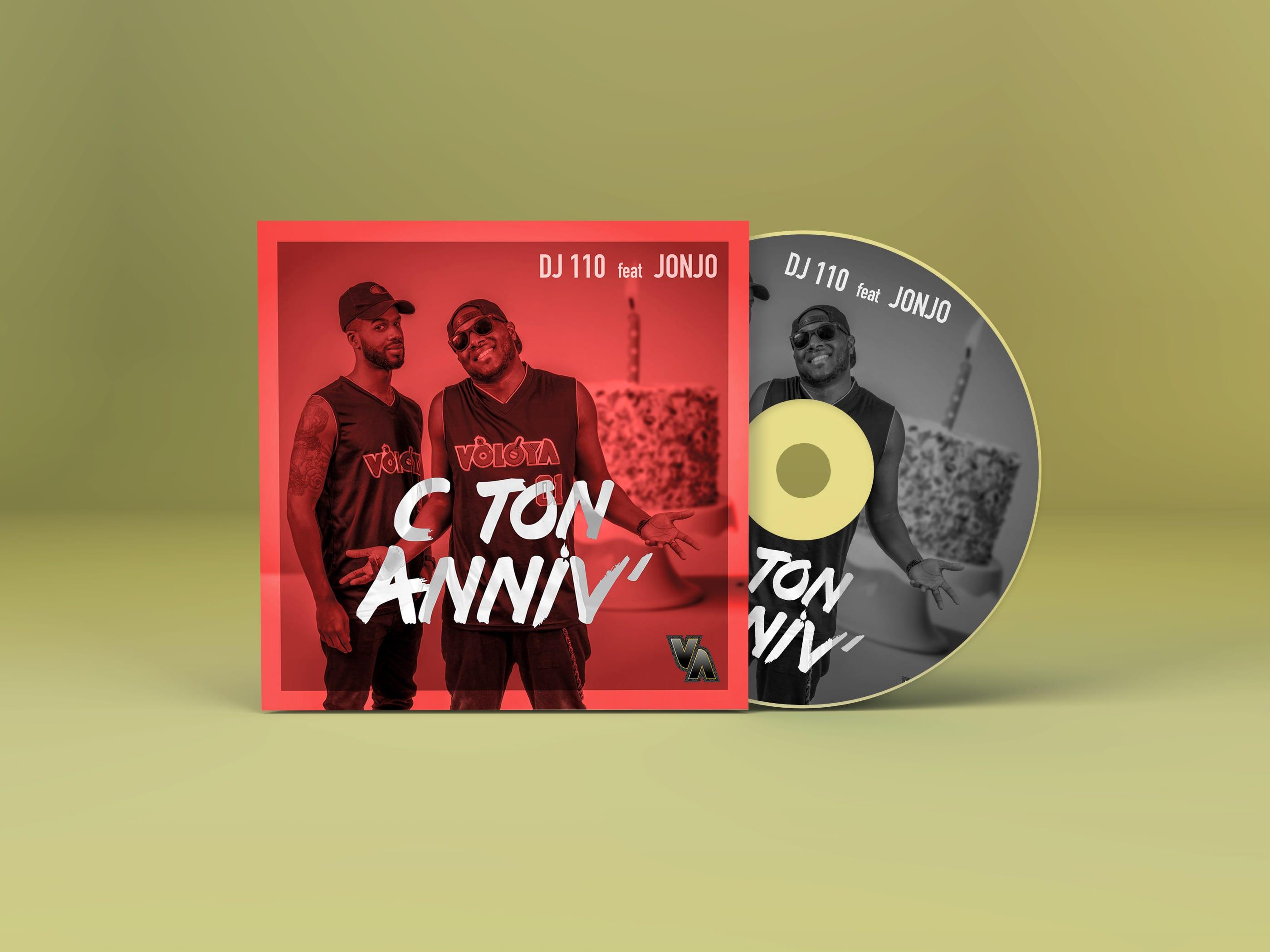 """image de la cover pour le single """"c'est ton anniv"""" jonjo feat dj 110, VOLOYA musique"""